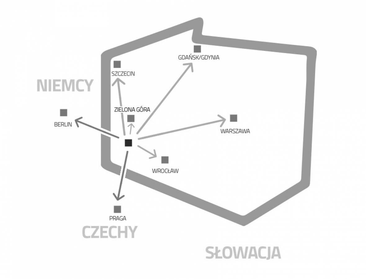 Sieć komunikacyjna miasta Żagań