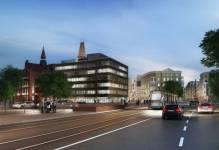 Zabytkowe budynki w centrum Wrocławia zmieniają się w Bulwar Staromiejski