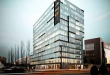 Warszawa: Zawisła wiecha na biurowcu Grzybowska 43