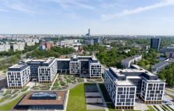 Pierwsze budynki kompleksu Business Garden Wrocław