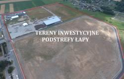 Gmina Łapy sprzedaje działki inwestycyjne