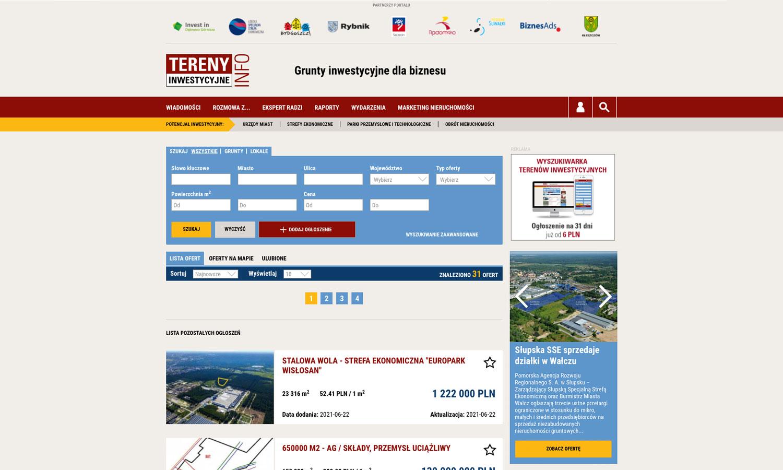 Wyszukiwarka gruntów w serwisie www.terenyinwestycyjne.info